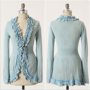Anthropologie S Guinevere knit curly top cardigan